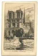 75 CPA Paris Gravure Eau Forte Notre Dame Charles Pinet Graveur N° 41 - Notre Dame De Paris