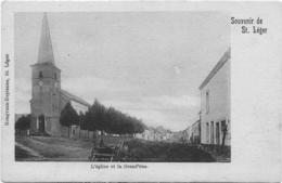Saint-Léger Souvenir De Saint-Léger L'église Et La Grand-rue - Saint-Léger