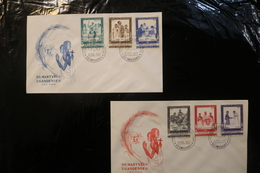 Vatican City FDC Uganda Martyrs 2 Covers Day Of Issue Cancel 1965 A04s - FDC