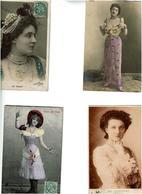 LOT De 20 CPA (Spectacle -Artistes  Debut 1900- Theatre- Varietes ETC ...Nombreuses Reutlinger- VOIR SCANS- - Postcards