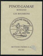 Rare // Etiquette De Vin // Sport-tradition // Pinot-Gamay, Hornuss 75 Jarre HG Vechigen - Etiquettes