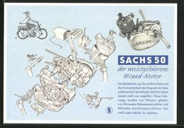 AK Sachs 50 - Der Meistgefahrene Moped-Motor, Konstruktionsplan Des Motors - Motos