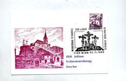Carte Cachet  Wien 200 Ans Eglise Kalvarien - Marcofilie - EMA (Print Machine)