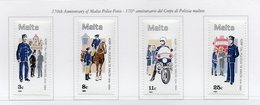 Malta - 1984 - 170°Anniversario Del Corpo Di Polizia Maltese - 4 Valori - Nuovi - Vedi Foto - (FDC13882) - Malte