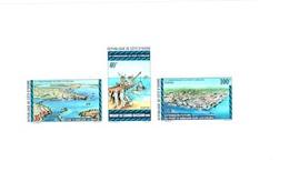 1975 Port Harbour Ivory Coast Mnh ** Sheet 10 Euros - Côte D'Ivoire (1960-...)