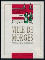 Rare // Etiquette De Vin // Musique // Morges, Rencontres Chorales 1993 - Musique