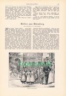 128 Bilder Aus Nürnberg Blumenmarkt  1 Artikel Mit Ca. 3 Bildern Von 1902 !! - Historische Dokumente