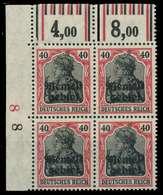 MEMEL 1920 GERMANIA Nr 6W OR Postfrisch VIERERBLOCK ECK X88799E - Memelgebiet