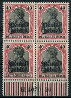 MEMEL 1920 GERMANIA Nr 6 HAN A H4070.20 Postfrisch VIER X8879D2 - Memelgebiet