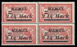 MEMEL 1922 Nr 89 Postfrisch VIERERBLOCK X887AFE - Memelgebiet