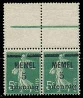 MEMEL 1920 Nr 18b Postfrisch WAAGR PAAR ORA X887CE2 - Klaipeda