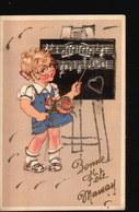LOT241.....5 CPA ILLUSTRATIONS ENFANTS...PAILLETTES - Postcards