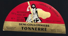 Etiquette Fromage Demi 1/2 Coulommiers Tonnerre  Fabriqué En Lorraine  Hurault Dieppe Meuse 55 Export - Fromage
