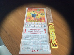 """Calendrier 2019 """" Cochon - Chinois Gourmet Brest 29"""" (77,5x31,5cm) - Calendriers"""
