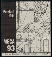 Rare // Etiquette De Vin // Architecture // Fendant, MECA 93 - Architecture