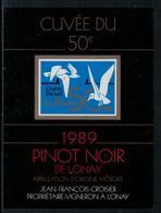 Rare // Etiquette De Vin // Musique // Pinot Noir De Lonay, Chants Et Danse - Musique