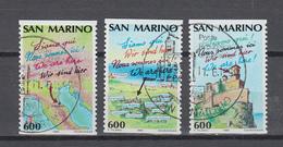 San Marino 1990 ,  Michel Nr:  1435/37 C   Gestempelt/used,  CEPT Mitläufer - Europäischer Gedanke