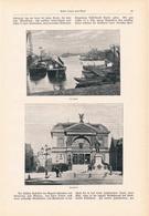 132 Düsseldorf Am Rhein  1 Artikel Mit Ca. 10 Bildern Von 1902 !! - Historische Dokumente