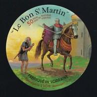 """Etiquette Fromage Le Bon St Martin Fabriqué En Lorraine Fromagerie L'Hôte Nonhigny Meurthe Et Moselle """"cheval"""" - Fromage"""
