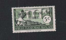 Faux Afrique équatorale N° 95b Surcharge Noire Gomme Sans Charnière - A.E.F. (1936-1958)