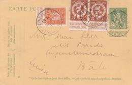 Belgique Cachet Le Havre Spécial Sur Entier Postal Pour La Suisse 1914 - Entiers Postaux