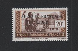 Faux Afrique équatorale N° 98b Surcharge Noire Gomme Sans Charnière - A.E.F. (1936-1958)