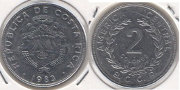Costa Rica 2 Colones 1983  KM#211.1 - Used - Costa Rica