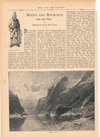 140 Norwegen 1 Artikel Mit 8 Bildern Von 1890 !! - Historische Dokumente
