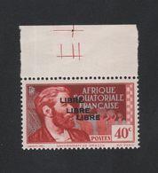 Faux Afrique équatorale N° 105b Triple Surcharge Gomme Sans Charnière - A.E.F. (1936-1958)