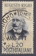 TRIESTE  Zona A AMG-FTT - 1950 - Yvert 82 Usato. - Gebraucht