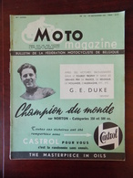 Moto Magazine N° 16 Roi Léopold Et Prince Baudouin - Carburants - Circuit De La Tunisie - GP. Nations à Monza - Herstal. - Auto/Moto