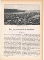142 Norwegen Hardangerfjord 1 Artikel Mit 8 Bildern Von 1894 !! - Historische Dokumente