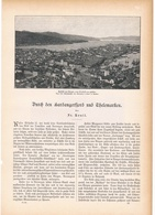 142 Norwegen Hardangerfjord 1 Artikel Mit 8 Bildern Von 1894 !! - Zeitungen & Zeitschriften