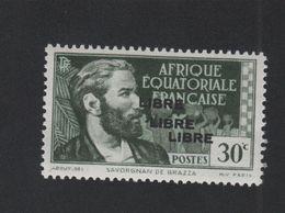 Faux Afrique équatorale N° 104b Triple Surcharge Gomme Sans Charnière - A.E.F. (1936-1958)
