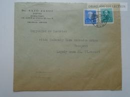 ZA167.11  Hungary  1941 - Cover - Dr. Sajó János  To Vitéz Nedeczky  Géza Százados úrnak  Bp. - Covers & Documents