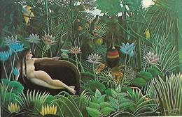 CARTE POSTALE ORIGINALE 10CM/15CM THE MUSEUM OF MODERN ART NEW YORK TABLEAU DE HENRI ROUSSEAU THE DREAM 1910 - Pittura & Quadri