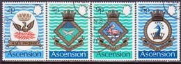 ASCENSION 1971 SG #149-53 Compl.set+m/s Used Royal Naval Crests (3rd Series) - Ascension