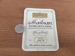 Étiquette Vin 1979 «ENTRE-DEUX-MERS - BORDEAUX - Henri De Malesan - LORMONT (33)» - Bordeaux
