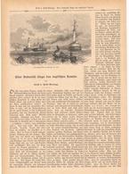 143 Boulogne Ostende Englischer Kanal 1 Artikel Mit 12 Bildern Von 1889 !! - Historische Dokumente