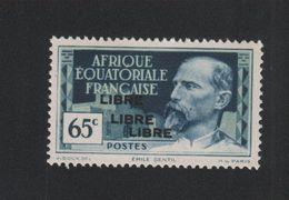 Faux Afrique équatorale N° 110b Triple Surcharge Gomme Sans Charnière - A.E.F. (1936-1958)