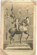 75 CPA Paris Gravure Eau Forte Statue Jeanne D Arc Par Fremiet  Pinet Graveur N° 35 - France