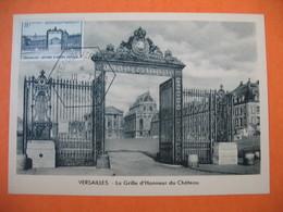 Carte Maximum France 1954  N° 988  Grille D'entrée Du Château De Versailles - Maximumkarten