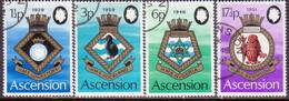 ASCENSION 1972 SG #154-58 Compl.set+m/s Used Royal Naval Crests (4th Series) - Ascension