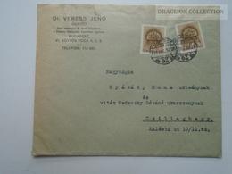 ZA167.13  Hungary Cover 1939 - Nyárády - Vitéz Nedeczky Gézáné -Csillaghegy - Dr. Veress Jenő - Covers & Documents
