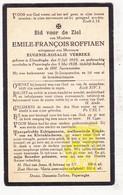 DP Kerkmeester Emile F. Roffiaen ° Elverdinge Ieper 1859 † Poperinge 1928 X Eugenie R. Verbeke - Images Religieuses