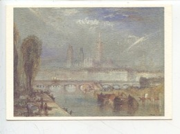 Joseph Mallord William Turner 1775/1851 : Rouen Vers L'Aval Vers 1832 Plume Gouache) Tate Gallery Cp Vierge - Pittura & Quadri