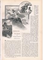 146 Bruneck Enneberg Dolomiten 1 Artikel Mit 10 Bildern Von 1897 !! - Historische Dokumente