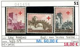 San Marino - Michel 457-459 - ** Mnh Neuf Postfris - Rotes Kreuz Red Cross Croix Rouge Rode Kruis - Nuevos