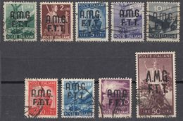 TRIESTE  Zona A AMG-FTT - 1947/1948 - 9 Valori Usati, Come Da Immagine. - 7. Triest