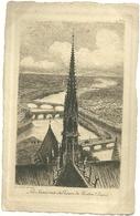 75 CPA Paris Gravure Eau Forte La Seine Vue De Notre Dame  Pinet Graveur N° 4 - Notre Dame De Paris